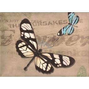 Nekupto Dárková kraftová taška 32,5 x 26 x 13 cm Motýlci 326 CL
