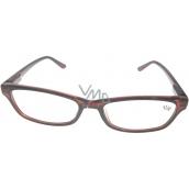 Berkeley Čtecí dioptrické brýle +4,0 plastové hnědé 1 kus MC2125