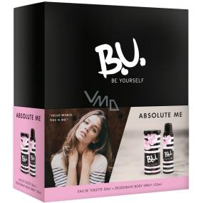 B.U. Absolute Me toaletní voda pro ženy 50 ml + deodorant sprej 150 ml, dárková sada
