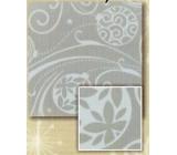 Nekupto Balící papír vánoční Stříbrný, baňky 0,7 x 2 m