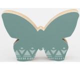 Nekupto Home Decor Dřevěná dekorace motýlek zelený 12 x 8 cm