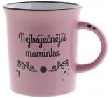 Albi Plecháček keramický hrnek s nápisem Nejbáječnější maminka, růžový 320 ml