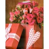 Nekupto Dárková papírová taška střední 18 x 23 x 10 cm Růže, dárek 1731 30 KFM