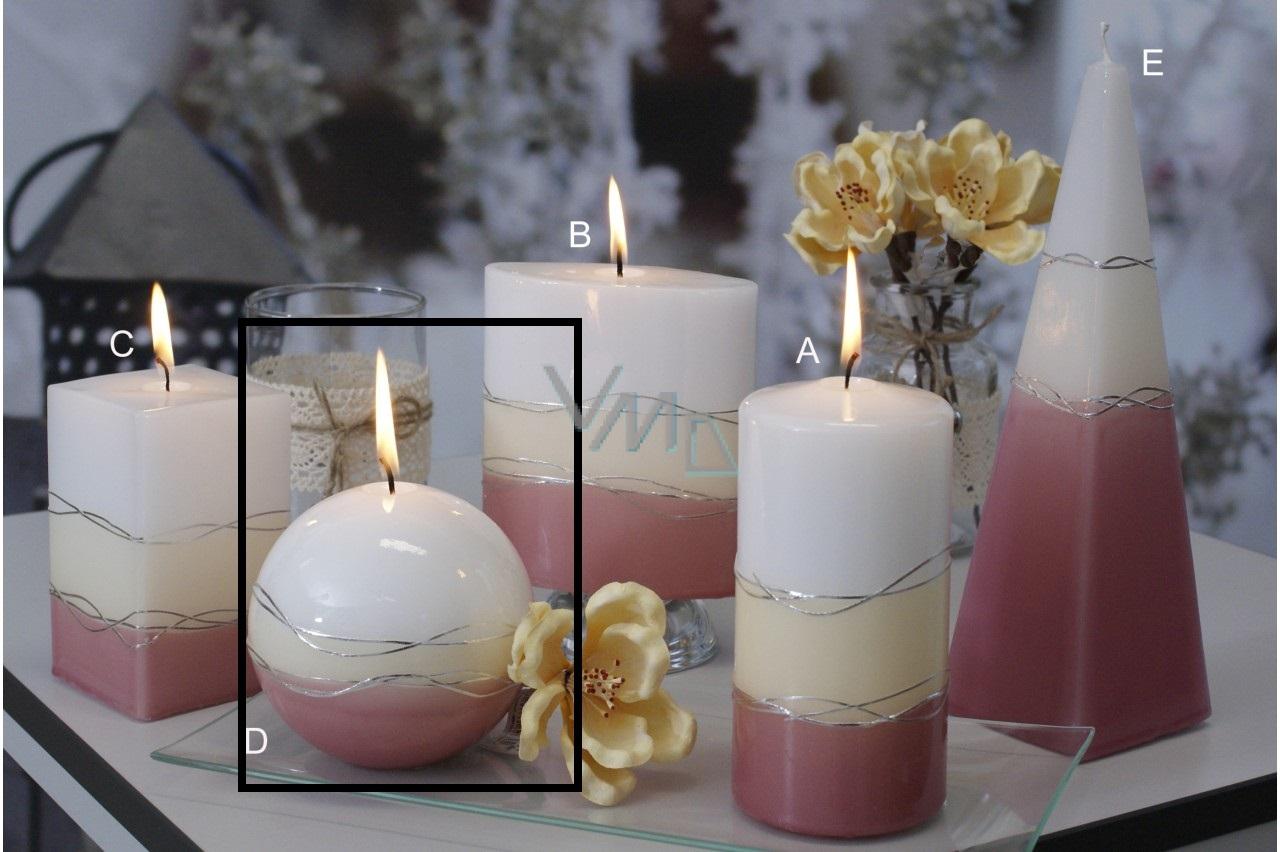 Lima Verona svíčka starorůžová koule 100 mm 1 kus