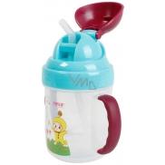 Baby Farlin Magic Cup hrníček netekoucí se slámkou pro děti od 9 měsíců AET-CP011-C 200 ml