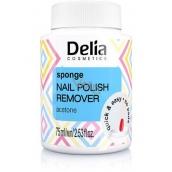 Delia Cosmetics Acetonový odlakovač s houbičkou 75 ml