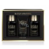 Baylis & Harding Černý pepř a Ženšen 2v1 šampon a sprchový gel 100 ml + balzám po holení 100 ml + pleťový mycí gel 50 ml, kosmetická sada pro muže