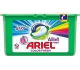 Ariel 3v1 Color Fresh Touch of Lenor gelové kapsle na praní prádla 35 kusů 945 g
