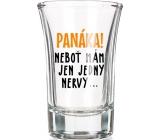 Nekupto Smích skleněný dárkový panák Panáka! 0,04 l
