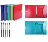 Exacompta Offix Kroužkový pořadač, hřbet 2 cm, A4 PP, 1 kus, mix 5 barev
