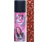 Zo Cool Glitter Sprej glitry na vlasy a tělo Red 125 ml