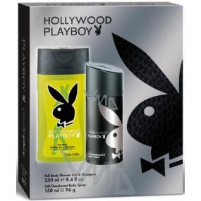 Playboy Hollywood deodorant sprej 150 ml + sprchový gel 250 ml, kosmetická sada
