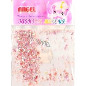 Angel Ozdoby na nehty kousky růžové 1 balení