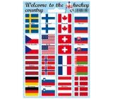 Arch Welcome to the hockey country samolepky a tetovačky vlajky států 12 x 17 cm 1 kus