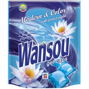 Wansou Modern & Color koncentrované gelové prací kapsle na barevné prádlo 25 kusů