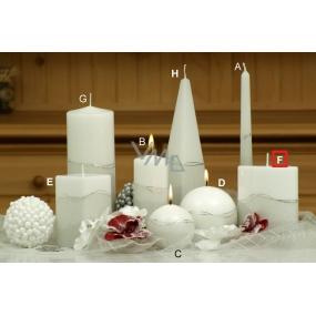 Lima Artic svíčka bílá elipsa 110 x 125 mm 1 kus