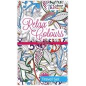 Albi Relax with Colours Cestovní antistresové relaxační omalovánky s Ornamenty 11,2 cm × 19 cm