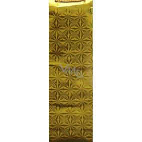 Nekupto Dárková papírová taška na láhev 33 x 10 x 9 cm zlatá hologramová 050 01 THLH
