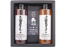 Bohemia Gifts & Cosmetics Boho Style & Gentleman Extrakt pivních kvasnic a chmele Sprchový gel 250 ml + Toaletní mýdlo 145g + Šampon na vlasy 250 ml, pro muže kosmetická sada