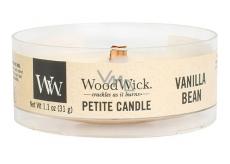 WoodWick Vanilla Bean - Vanilkový lusk vonná svíčka s dřevěným knotem petite 31 g
