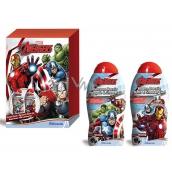 Marvel Avengers 2v1 sprchový gel a pěna do koupele pro děti 300 ml + 2v1 šampon a sprchový gel pro děti 300 ml, kosmetická sada, expirace 9/2018