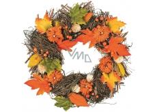 Věnec proutěný podzimní 41 cm