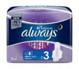 Always Platinum Ultra Night hygienické vložky s křidélky 6 kusů