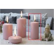 Lima Ice pastel svíčka růžová válec 50 x 100 mm 1 kus