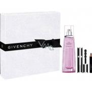 Givenchy Live Irresistible Blossom Crush toaletní voda pro ženy 50 ml + Noir Couture mini řasenka 01 Black Satin 4 g + Magic tužka na oči 01 Black 0,39 g, dárková sada