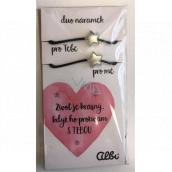 Albi Dárkový šperk duo náramky Život je krásný 2 kusy