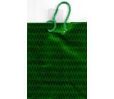 Nekupto Dárková papírová taška na láhev hologram standart 10 x 33 cm Zelená THLH