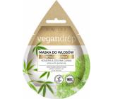 Marion Vegan Drop Konopí & zelený jíl vyhlazující maska pro suché, kudrnaté vlasy 20 ml