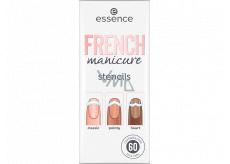 Essence French Manicure Stencils šablony na nehty 01 Walk The Line 60 kusů