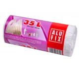 Alufix Sáčky do odpadkového koše s uchy bílé, 10 µ, 35 litrů, 53 x 60 x 16 cm, 25 kusů