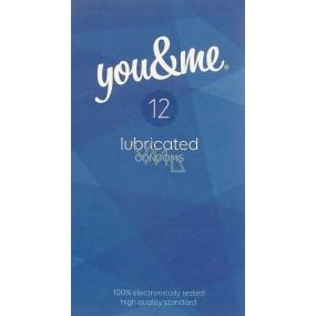 You & Me Lubricated průhledný lubrikovaný kondom 12 kusů