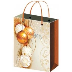 Anděl Taška vánoční dárková bílá, baňky XL 45,5 x 33 x 10,5 cm