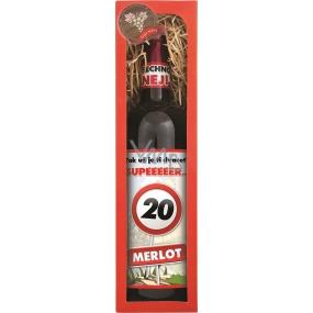 Bohemia Merlot Vše nejlepší 20 červené dárkové víno 750 ml