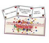 Bohemia Karty splněných přání pro děti 20 kusů karet