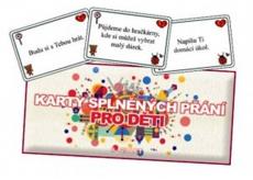 Bohemia Gifts & Cosmetics Karty splněných přání pro děti 20 kusů karet