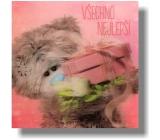 Albi Me To You Blahopřání do obálky 3D Všechno nejlepší Medvěd s kytkou a dárkem 15,5 x 15,5 cm