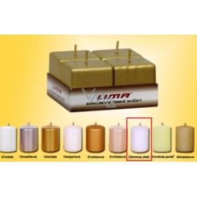 Lima Svíčka hladká mrazivý efekt krychle 45 x 45 mm 4 kusy