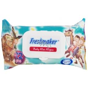 Freshmaker Baby Wet Wipes dětské vlhčené ubrousky animované 72 kusů