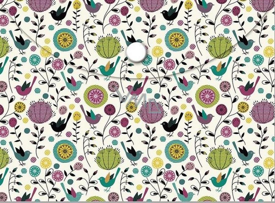 Albi Pouzdro na dokumenty Ptáčci a květy B6 - 125 × 176 mm