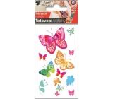 Tetovací obtisky Motýli vodokresba 10,5 x 6 cm