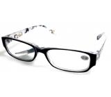 Berkeley Čtecí dioptrické brýle +1,5 plast černé stranice s obdelníky 1 kus MC2084