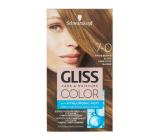 Schwarzkopf Gliss Color barva na vlasy 7-0 Tmavě béžová blond 2 x 60 ml
