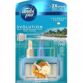 Ambi Pur 3 Volution Caribbean Escape 2x Effect elektrický osvěžovač náplň 3 x 20 ml