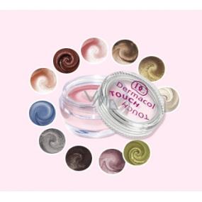 Dermacol Pearl Touch Eyeshadow vysoce třpytivé pěnové oční stíny 4,9 g odstín 4
