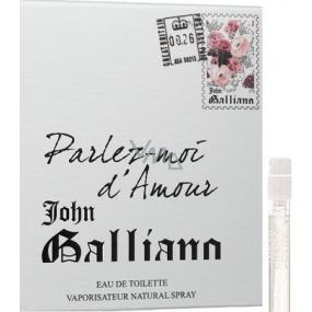 John Galliano Parlez-Moi d Amour toaletní voda pro ženy 1,5 ml s rozprašovačem, Vialka