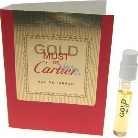 Cartier Must De Cartier Gold parfémovaná voda pro ženy 1,5 ml s rozprašovačem, Vialka